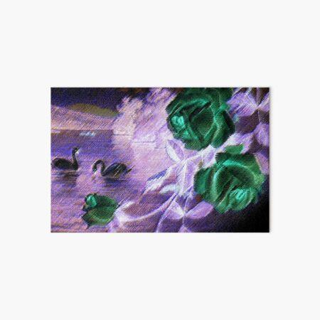 Dark Swan & Rose Art Board Print