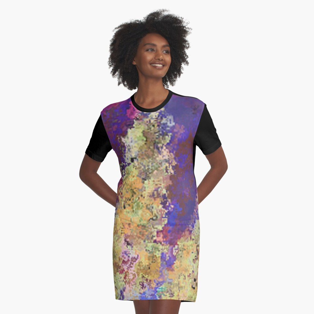 Dabble Flowers Graphic T-Shirt Dress