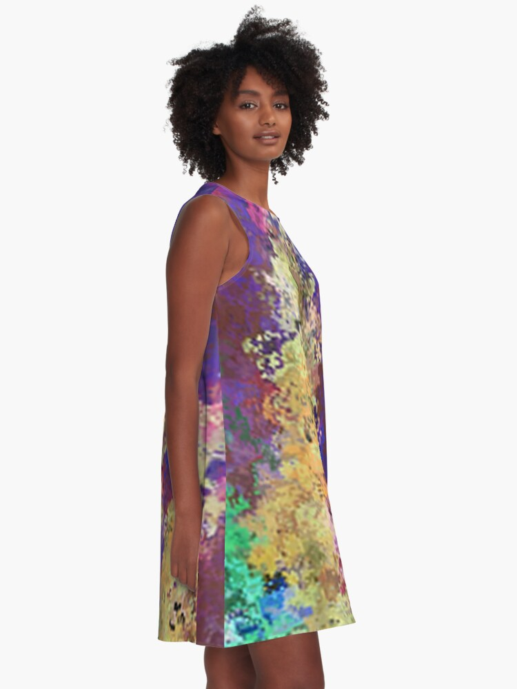 Alternate view of Dabble Flowers A-Line Dress