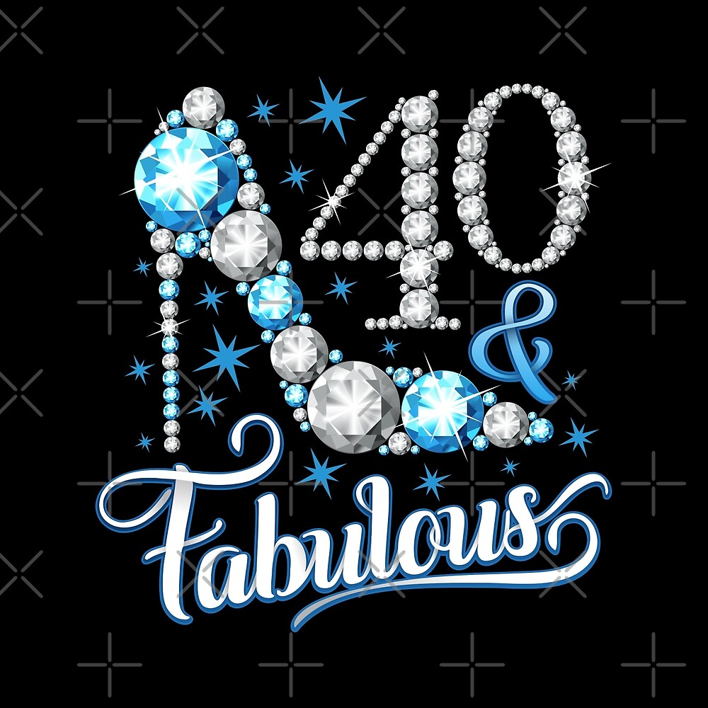 40th Birthday T Shirt Forty And Fabulous For Ladies Women