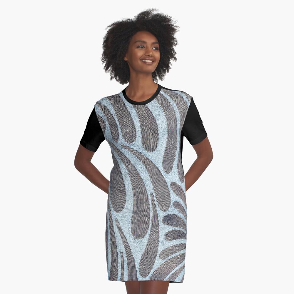 Silver Swish Graphic T-Shirt Dress