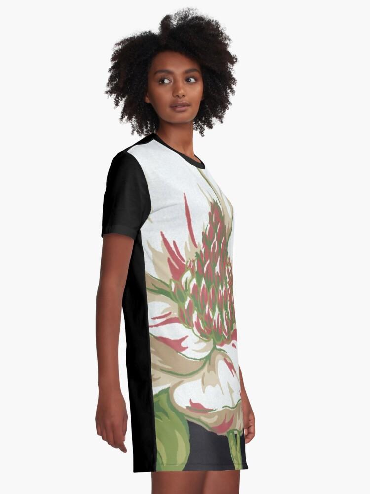 Alternate view of Sweet Magnolia #2 Graphic T-Shirt Dress