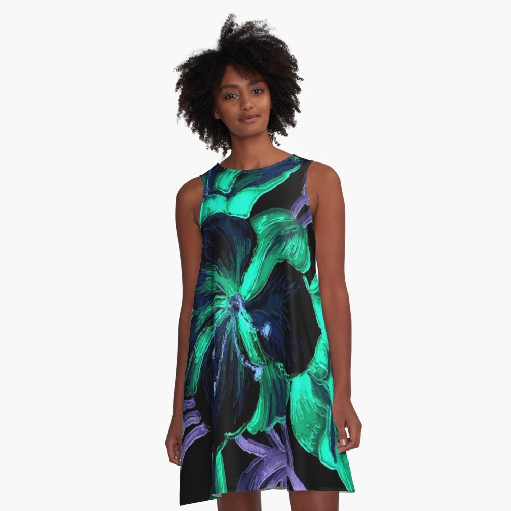 Garden Excerpt #101 A-Line Dress