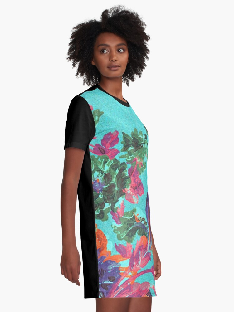 Alternate view of Happy Blooms Graphic T-Shirt Dress
