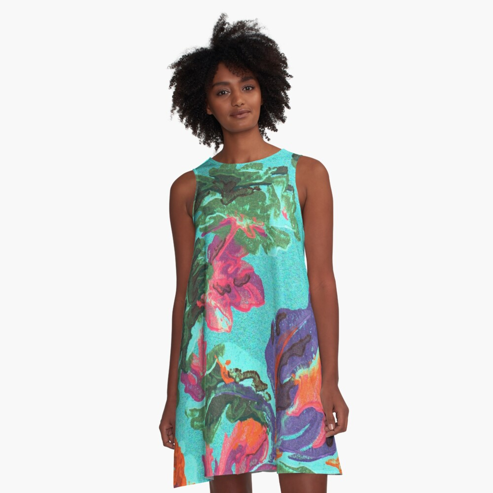 Happy Blooms A-Line Dress