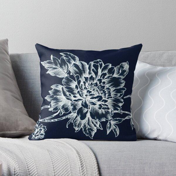 Skeleton Floral Throw Pillow