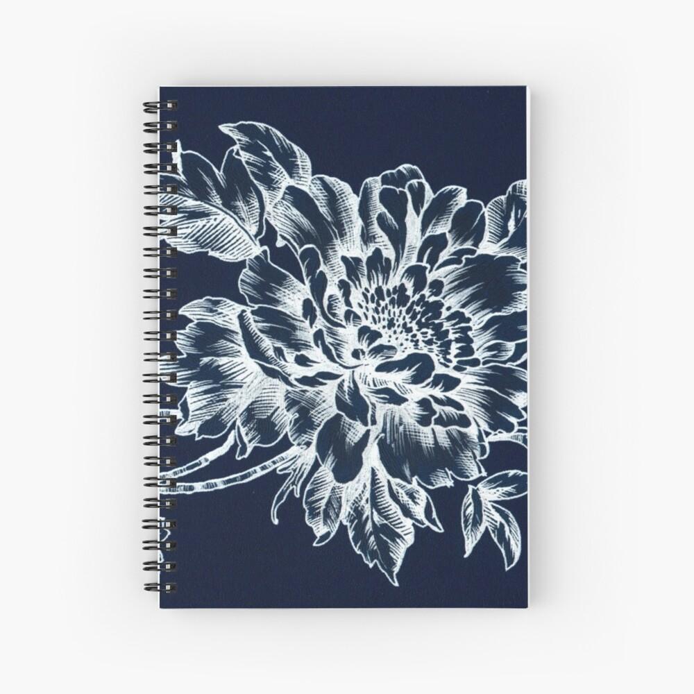 Skeleton Floral Spiral Notebook