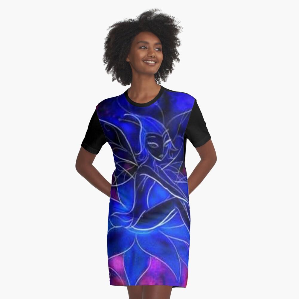 Dark Fairy Graphic T-Shirt Dress