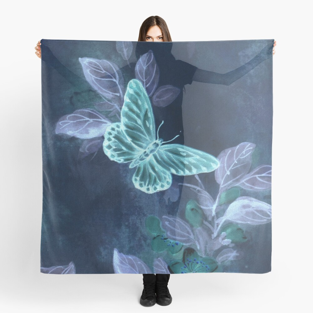 Night Glow Butterfly Scarf