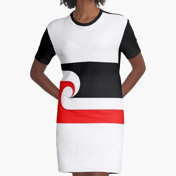 Maori Flag Graphic T-Shirt Dress