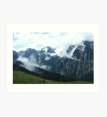 austrian mountains 8 Art Print