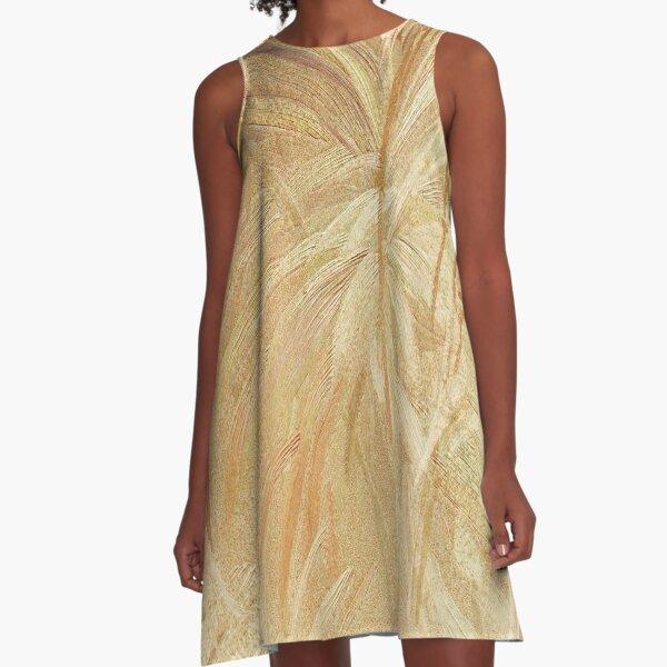 Splash of Gold A-Line Dress