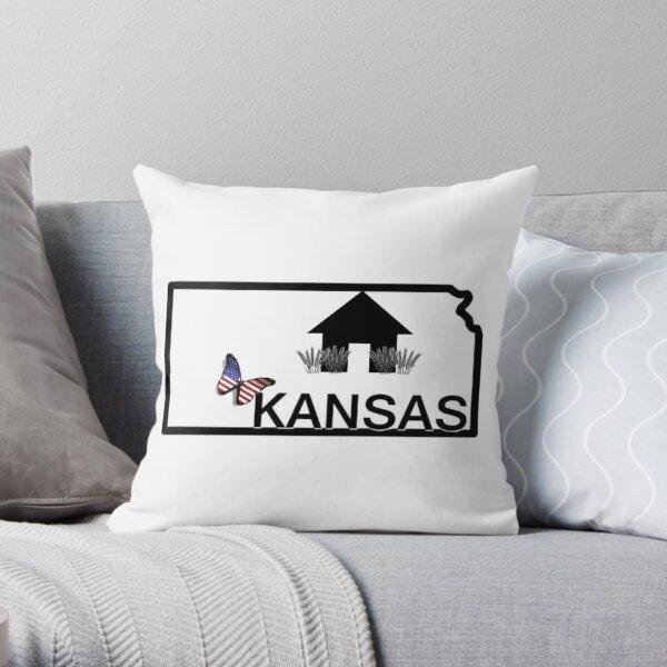 kansas Days wheats Throw Pillow
