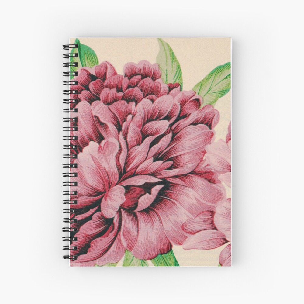 Pretty in Flowery Pink Spiral Notebook