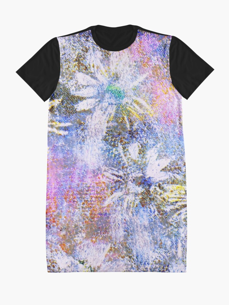 Alternate view of Chaotic Daisies Graphic T-Shirt Dress