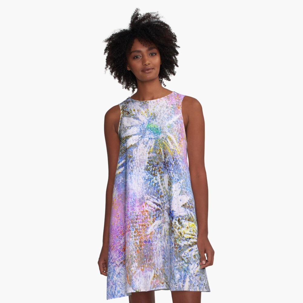 Chaotic Daisies A-Line Dress
