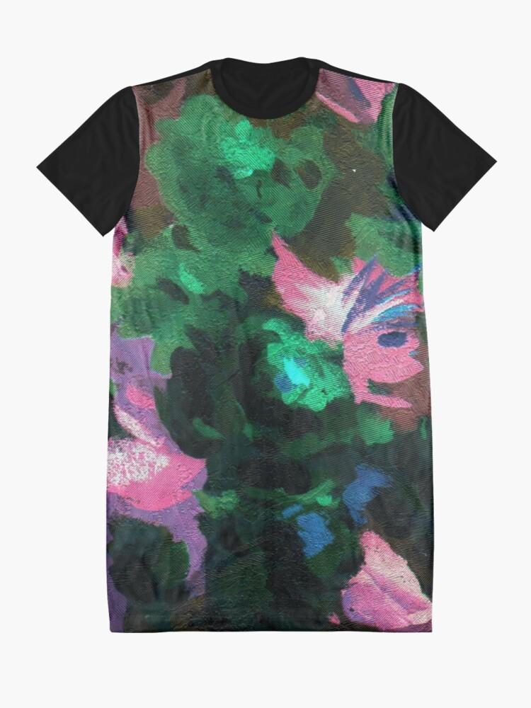 Alternate view of Dark Floral Graphic T-Shirt Dress