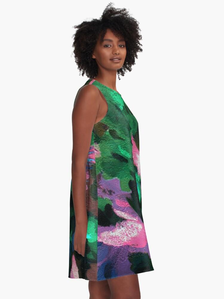 Alternate view of Dark Floral A-Line Dress