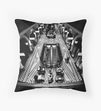 Before The Morning Rush Throw Pillow
