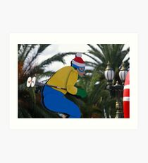 Which Joker Planted Palm Trees On My Ski Slope? Art Print