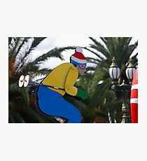 Which Joker Planted Palm Trees On My Ski Slope? Photographic Print