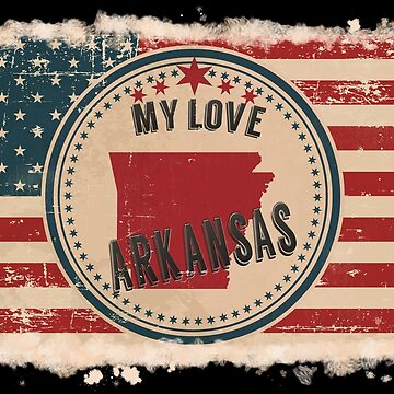 Arkansas Pride Retro US Flag by Flaudermoon