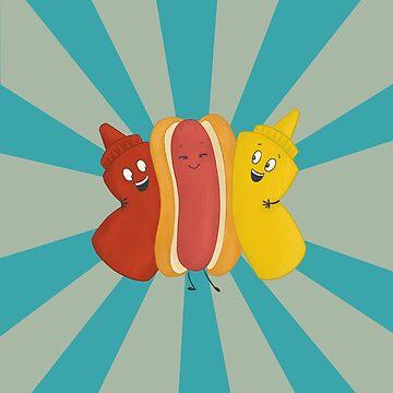Hot Dog BFFS by carabara