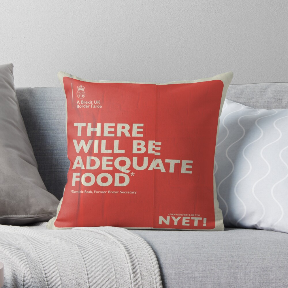 Adequate Food Pillow Throw Pillow