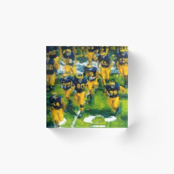Charge the Fifty Yard Line. Acrylic Block
