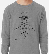 The Son Of Man 1946 Sketch de Rene Magritte Inspired Design, illustrations pour t-shirts, estampes, affiches, sacs, hommes, femmes, enfants Sweat léger