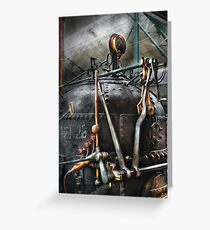 Steampunk - The Steam Engine Greeting Card