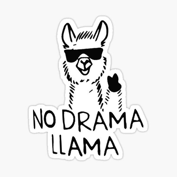 Lama no drama Sticker