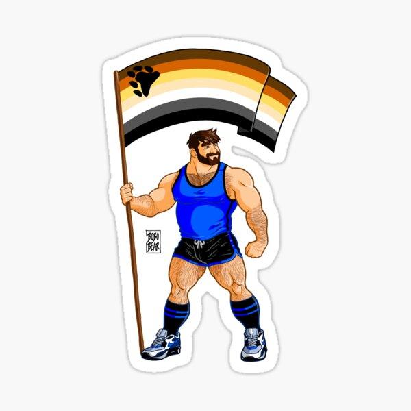 ADAM LIKES BEAR PRIDE FLAG Sticker