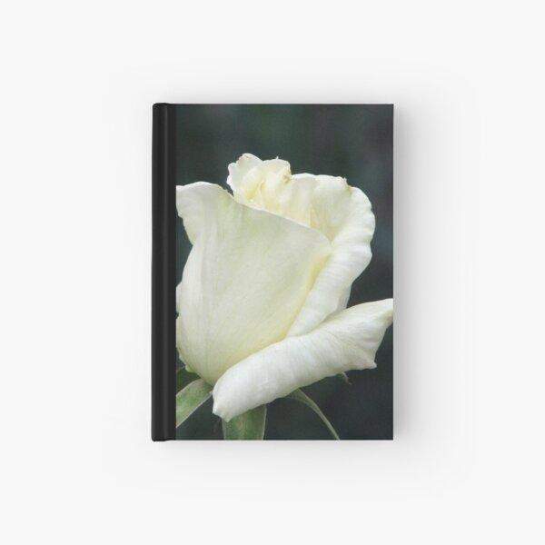 Rose White Hardcover Journal