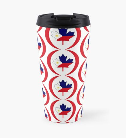 Filipino Canadian Multinational Patriot Flag Series Travel Mug