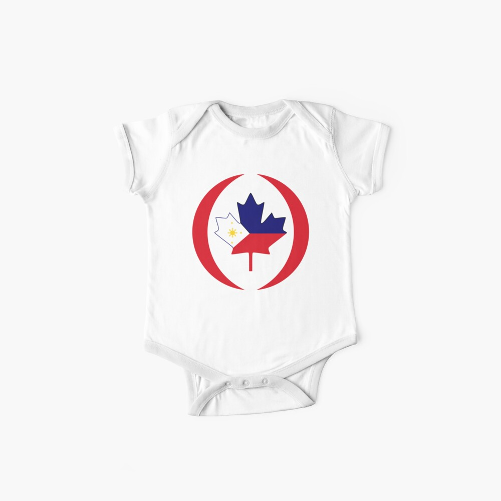Filipino Canadian Multinational Patriot Flag Series Baby One-Piece