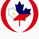 Filipino Canadian Multinational Patriot Flag Series by Carbon-Fibre Media