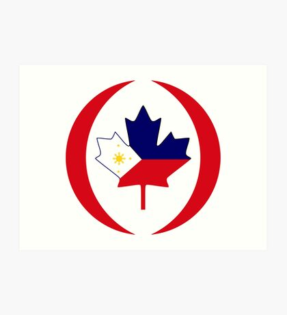 Filipino Canadian Multinational Patriot Flag Series Art Print
