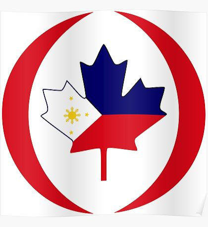 Filipino Canadian Multinational Patriot Flag Series Poster