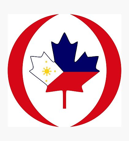 Filipino Canadian Multinational Patriot Flag Series Photographic Print