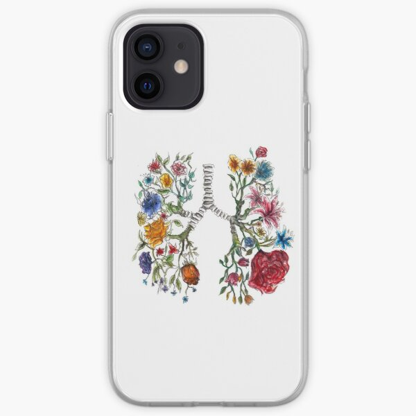Lung Anatomy and Flowers Art  iPhone Soft Case