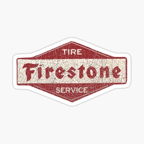 NOS Firestone Tires Red Company Logo Wall Decal Sticker Laptop Shop Mechanic