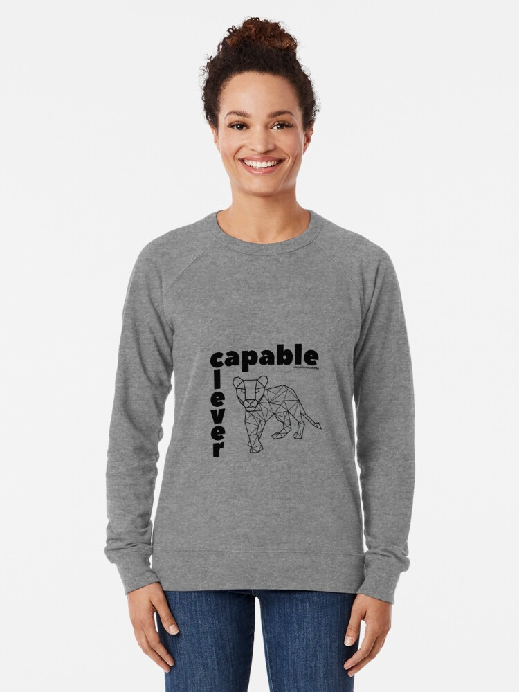 Alternate view of Capable and Clever Lightweight Sweatshirt