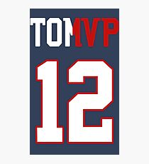 Limited Edition Tom Brady Super Bowl MVP, Tb12, New England Patriots Shirts, Mugs & Hoodies Photographic Print