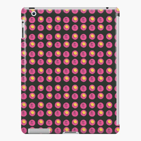 Disco Dot - Hot Pink & Yellow on Black Background iPad Snap Case