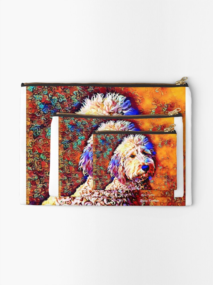 Alternate view of Labradoodle Dog Zipper Pouch