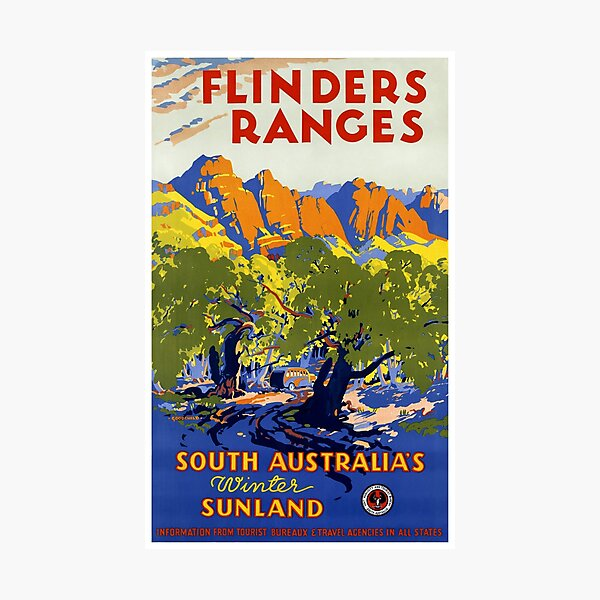 Australia Vintage Travel Poster Restored Photographic Print