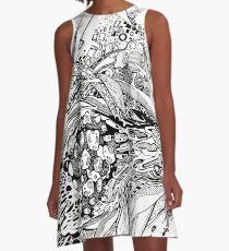 Multi-Dimensional Snake Eye - Illustration A-Line Dress
