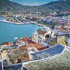 Skopelos Town and Harbour by Viv Thompson
