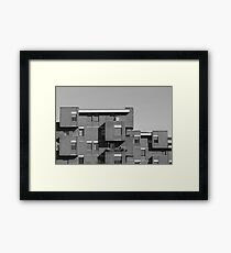 geometric architecture with blocks  Framed Print